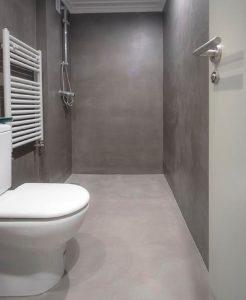 baño microcemento en Bilbao