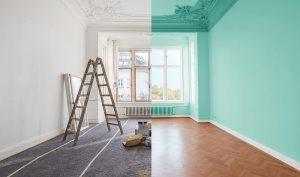decoración de casas pintura antes y despues en Bilbao
