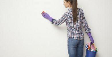 ¿Cómo limpiar paredes y techos?