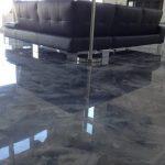 Porcelanato imitación marmol en salon